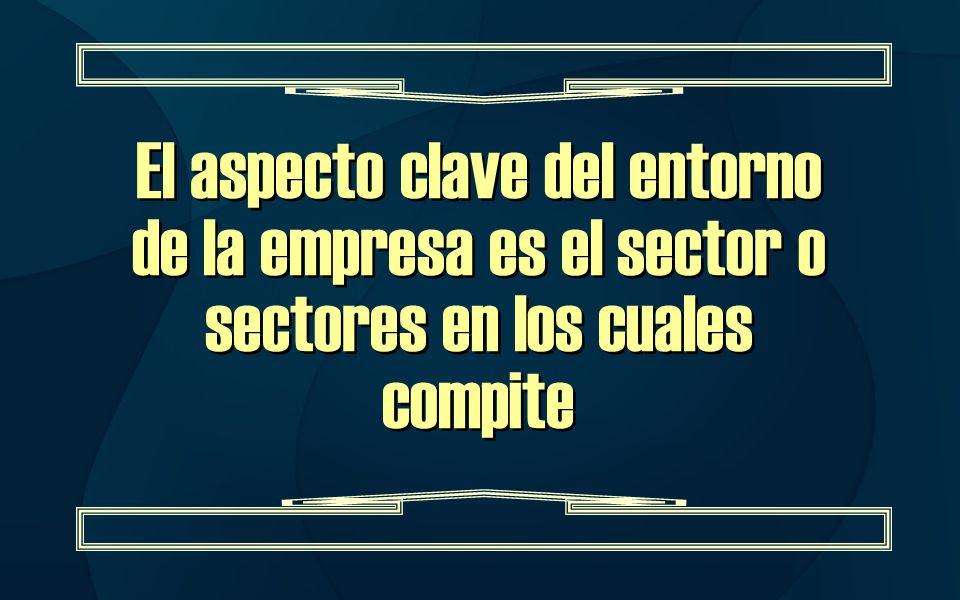 El aspecto clave del entorno de la empresa es el sector o sectores en los cuales compite