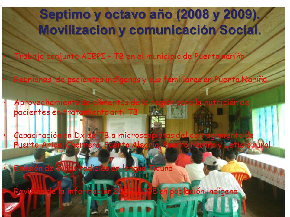 Septimo y octavo año (2008 y 2009).Movilizacion y comunicación Social.