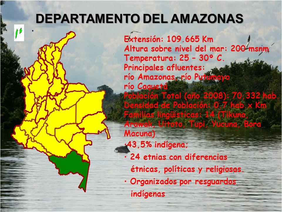Extensión: 109.665 Km Altura sobre nivel del mar: 200 msnm Temperatura: 25 – 30º C.