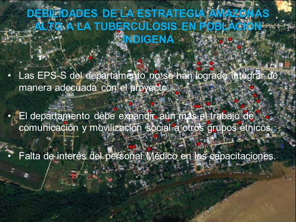 Las EPS-S del departamento no se han logrado integrar de manera adecuada con el proyecto.