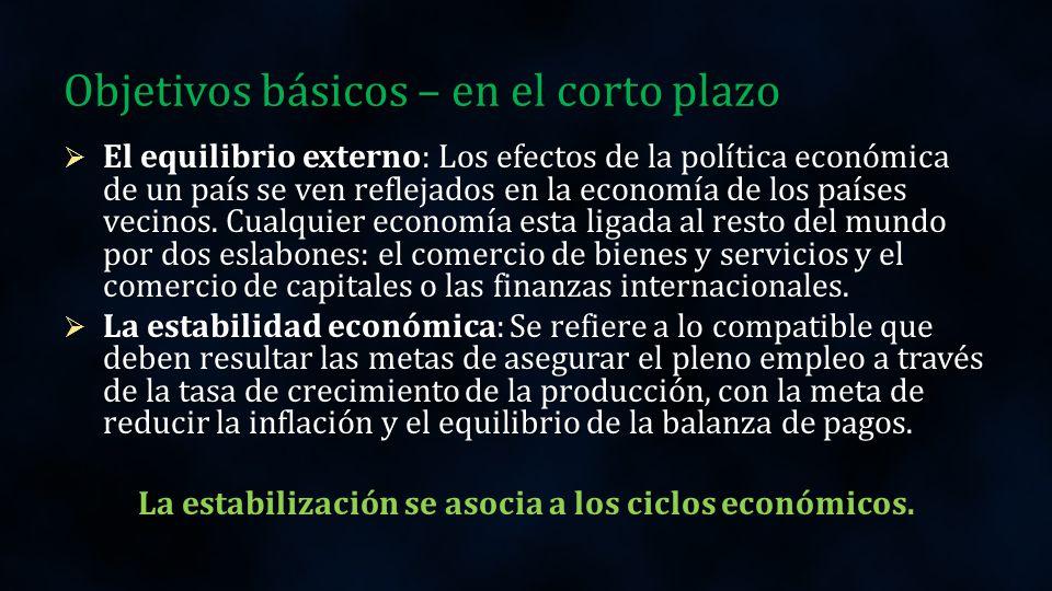Objetivos básicos - Largo plazo El desarrollo económico apunta a la mejora en las condiciones de vida de la población a través de la equitativa distribución de los ingresos y la riqueza, igualmente a la disminución de la brecha distributiva que no permite el desarrollo paralelo de las regiones.