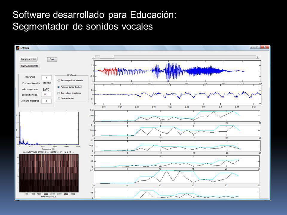 Software desarrollado para Educación: Segmentador de sonidos vocales