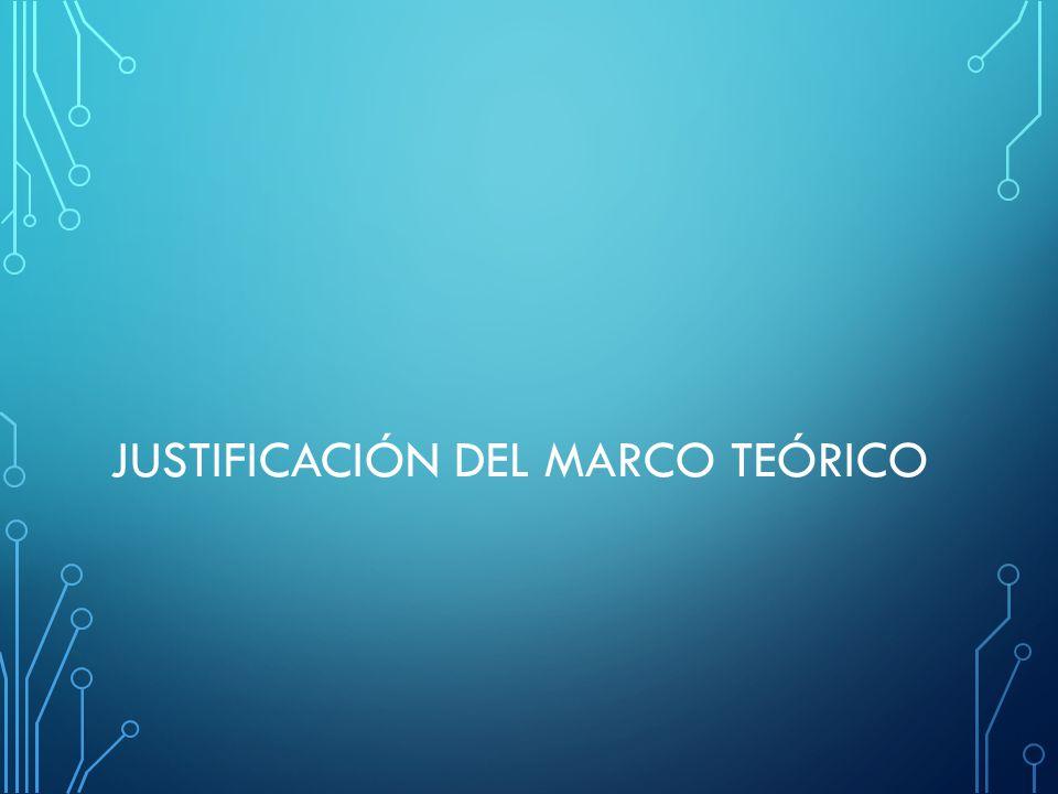 JUSTIFICACIÓN DEL MARCO TEÓRICO