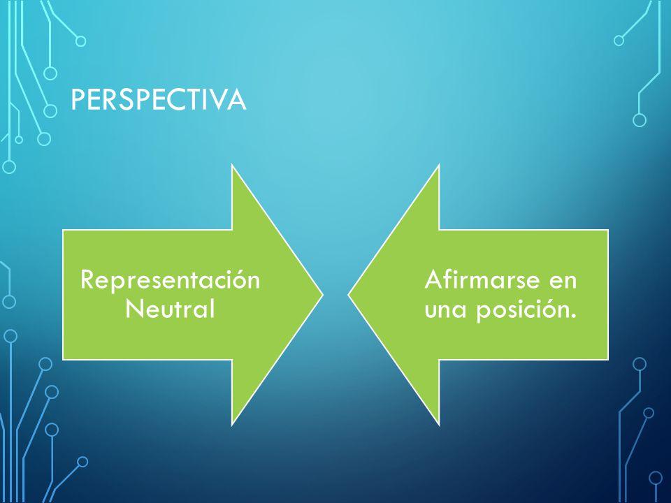 PERSPECTIVA Representación Neutral Afirmarse en una posición.