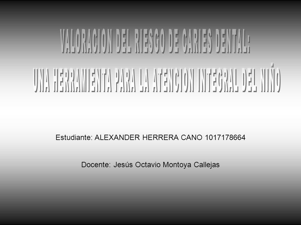 Estudiante: ALEXANDER HERRERA CANO 1017178664 Docente: Jesús Octavio Montoya Callejas