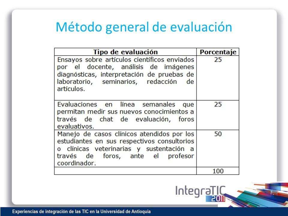 Método general de evaluación