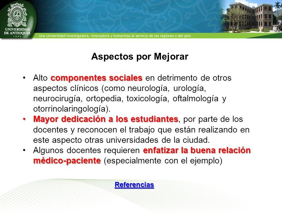 componentes socialesAlto componentes sociales en detrimento de otros aspectos clínicos (como neurología, urología, neurocirugía, ortopedia, toxicología, oftalmología y otorrinolaringología).