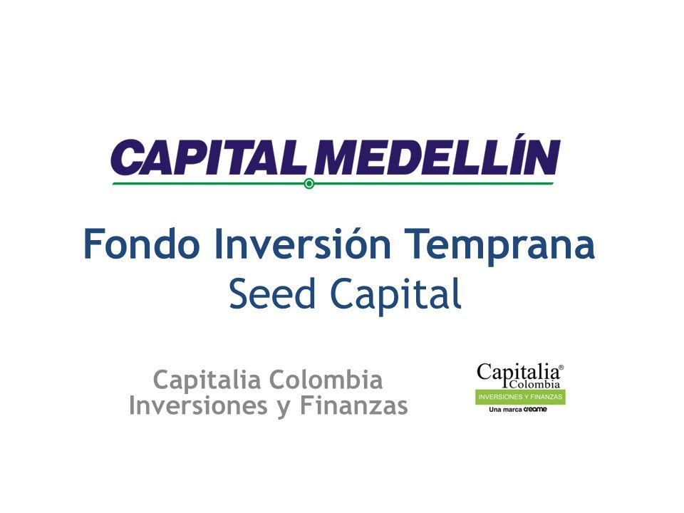 Fondo Inversión Temprana Seed Capital Capitalia Colombia Inversiones y Finanzas