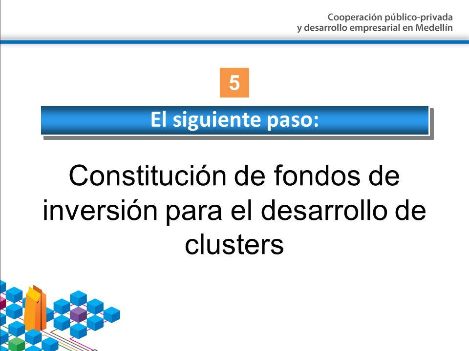 El siguiente paso: Constitución de fondos de inversión para el desarrollo de clusters 5