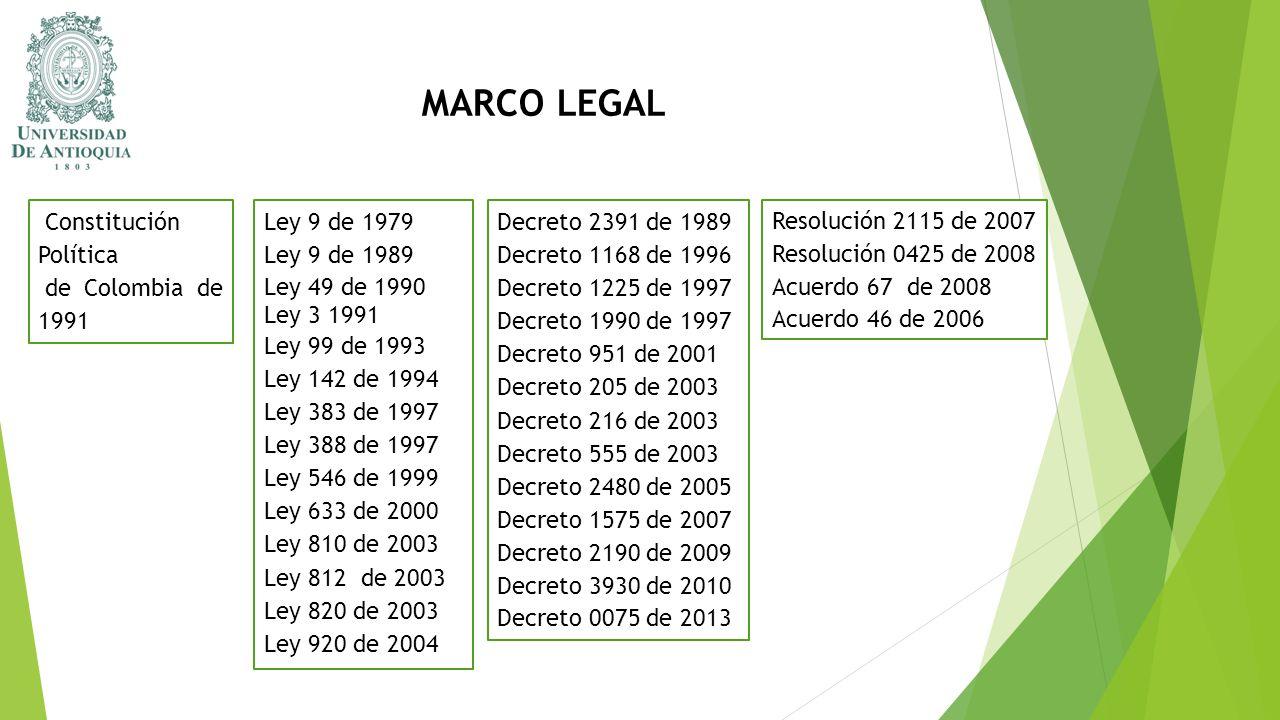 Decreto 2391 de 1989 Decreto 1168 de 1996 Decreto 1225 de 1997 Decreto 1990 de 1997 Decreto 951 de 2001 Decreto 205 de 2003 Decreto 216 de 2003 Decret