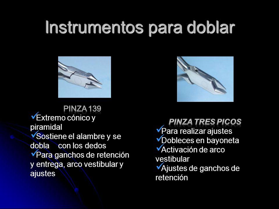 Instrumentos para doblar