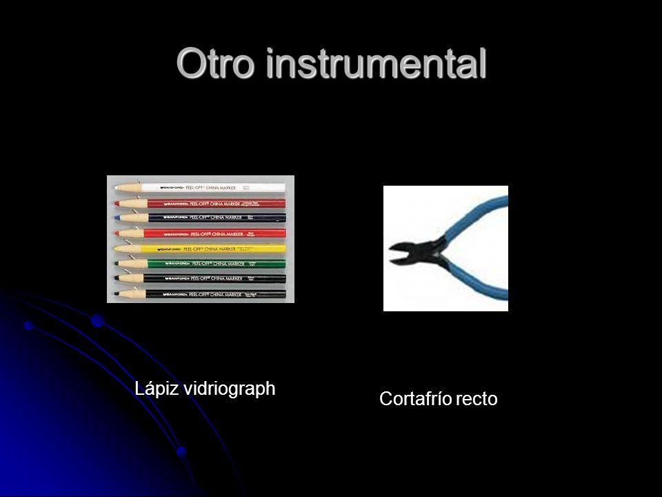 Otro instrumental Lápiz vidriograph Cortafrío recto