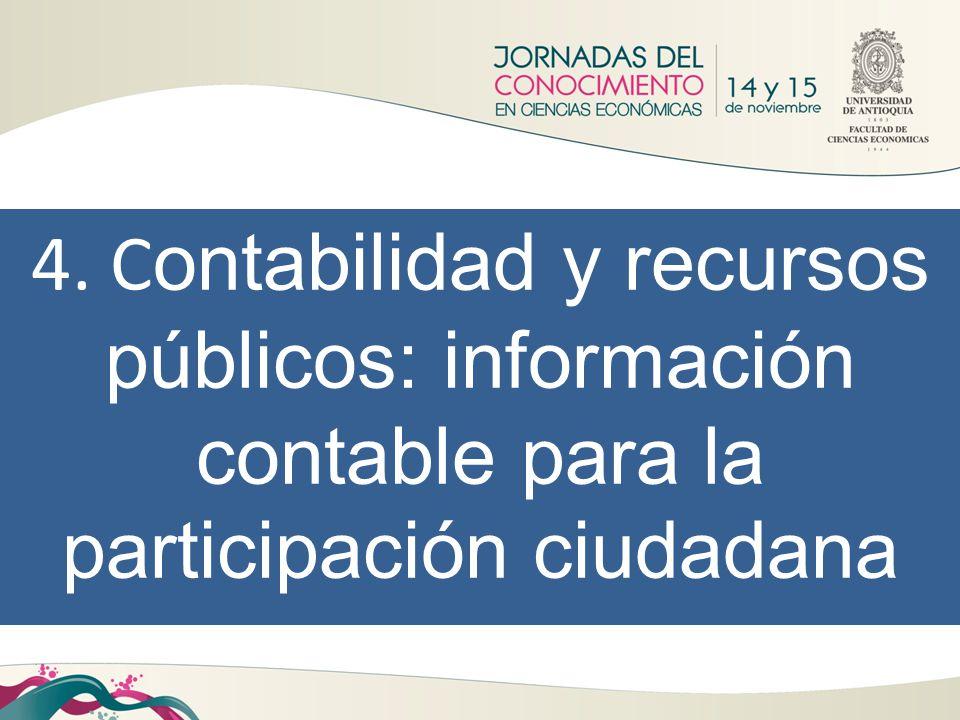 4. C ontabilidad y recursos públicos: información contable para la participación ciudadana