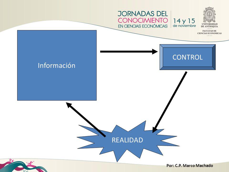 Por: C.P. Marco Machado Información CONTROL REALIDAD