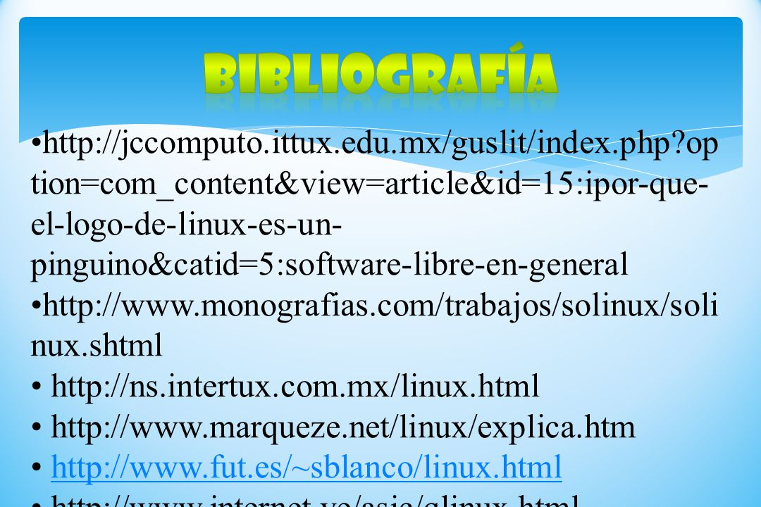 http://jccomputo.ittux.edu.mx/guslit/index.php?op tion=com_content&view=article&id=15:ipor-que- el-logo-de-linux-es-un- pinguino&catid=5:software-libr