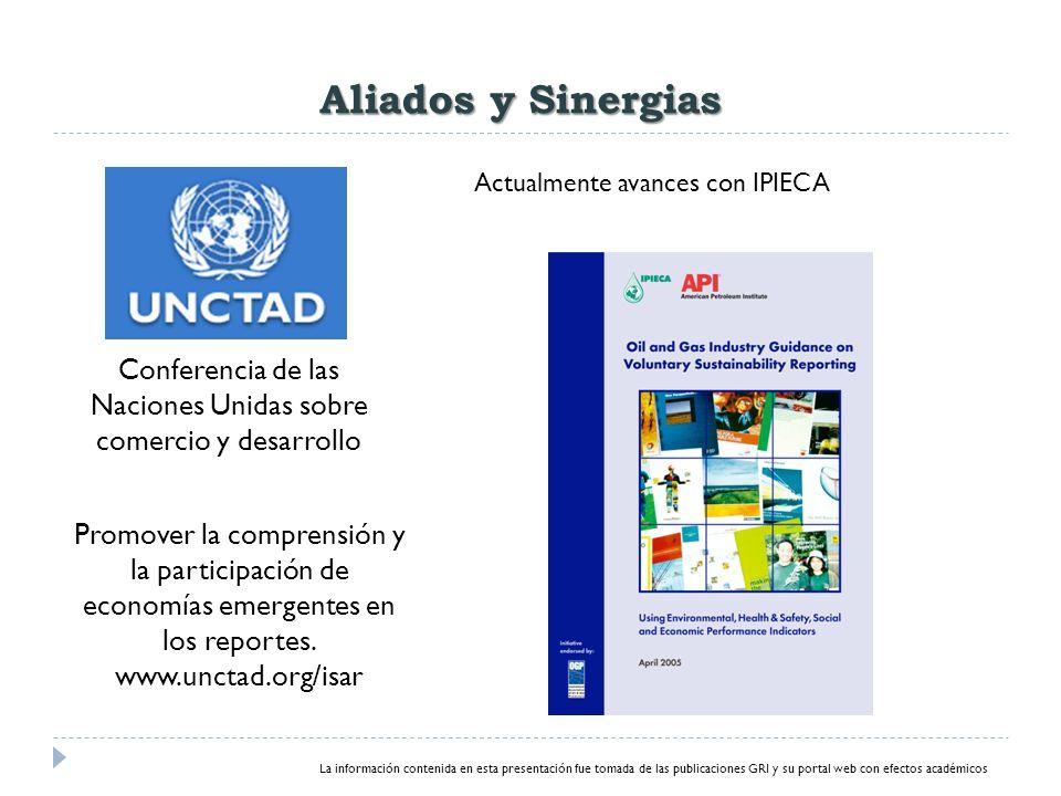 Conferencia de las Naciones Unidas sobre comercio y desarrollo Promover la comprensión y la participación de economías emergentes en los reportes.