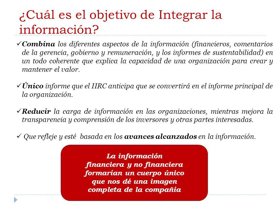 ¿Cuál es el objetivo de Integrar la información.