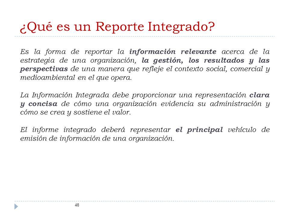 ¿Qué es un Reporte Integrado.