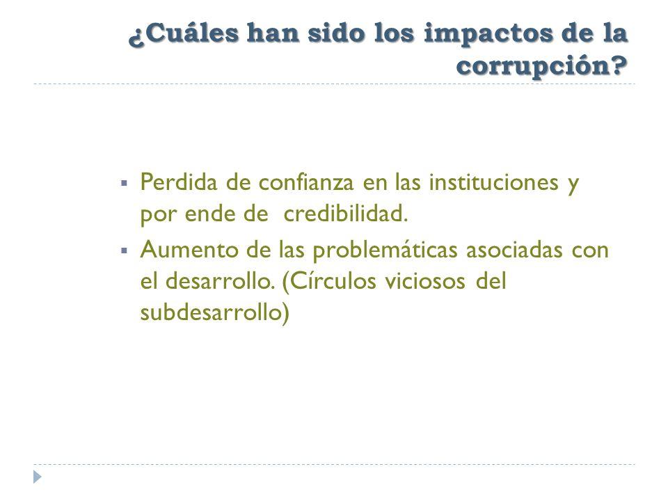 ¿Cuáles han sido los impactos de la corrupción.