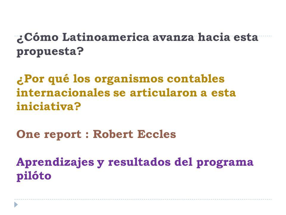 ¿Cómo Latinoamerica avanza hacia esta propuesta.