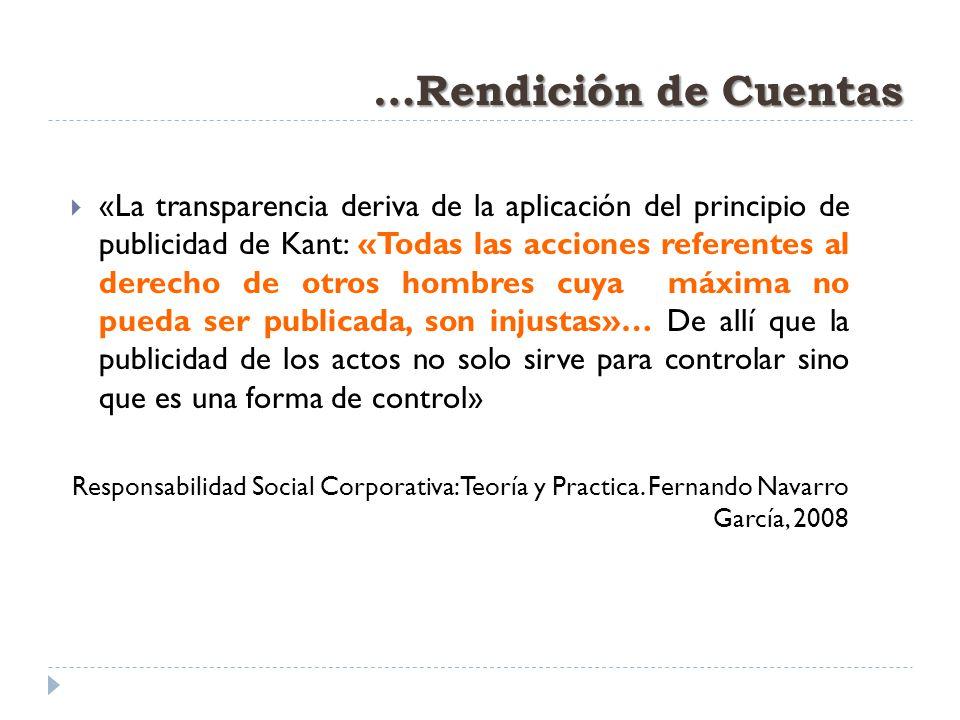 «La transparencia es la capacidad de responder a las peticiones de informaciones de unos ciudadanos cada vez más exigentes con el papel social que debe cumplir la empresa y a sus propios compromisos» Fernando Navarro García, 2008 ¿Que clase de información.