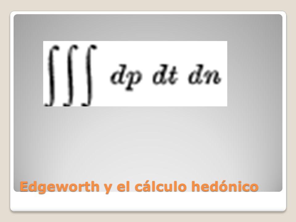 Edgeworth y el cálculo hedónico