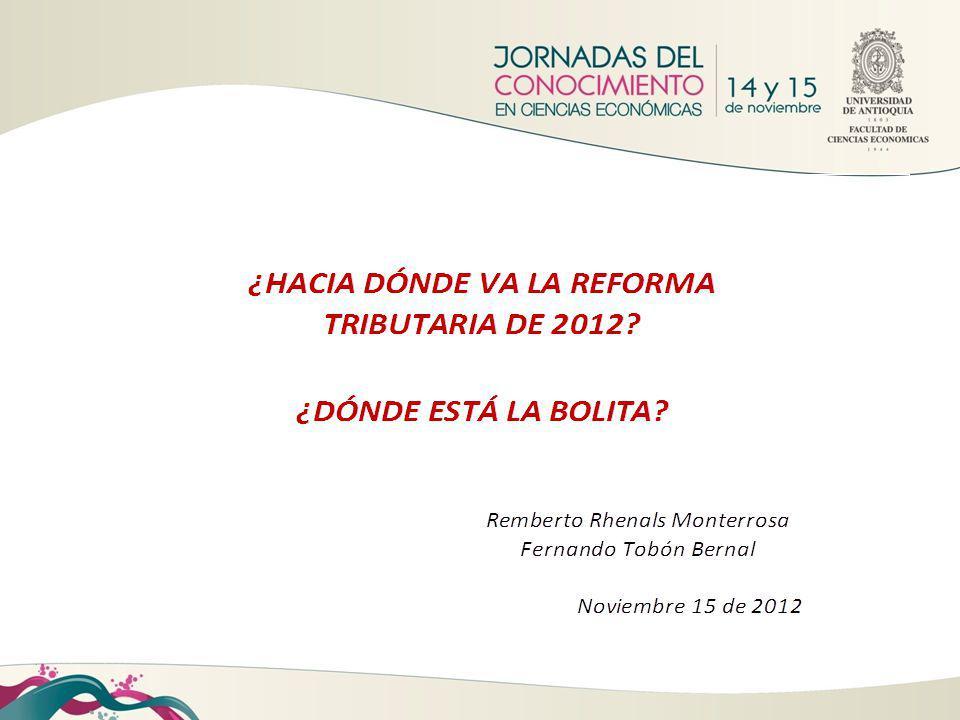 TEMAS DE LA REFORMA TRIBUTARIA 1.