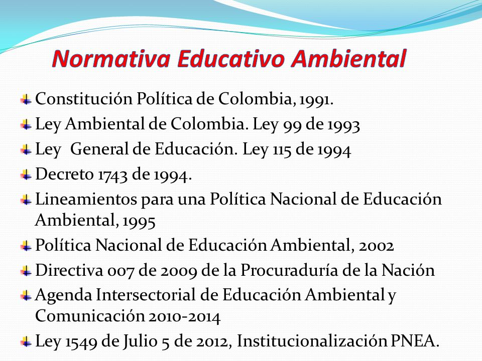 UNIVERSO CONCEPTUAL AMBIENTE EDUCACIÓN AMBIENTAL PROYECCIÓN COMUNITARIA SOSTENIBILIDAD INTERACCIÓN SocialNatural Cultural Dimensiones del Desarrollo Humano Actores Intereses Vigencia Permanencia SNC Escenarios del Desarrollo INVESTIGACIÓNINVESTIGACIÓN INTERVENCIÓNINTERVENCIÓN Imagen del Programa Nacional de Educación Ambiental Ministerio de Educación