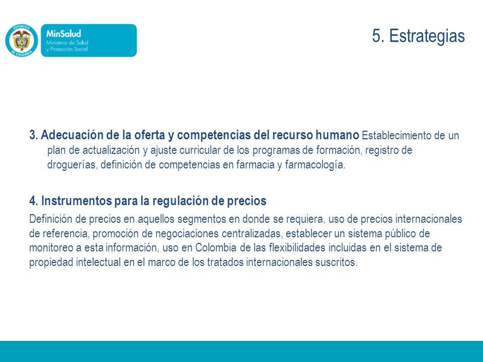 3. Adecuación de la oferta y competencias del recurso humano Establecimiento de un plan de actualización y ajuste curricular de los programas de forma