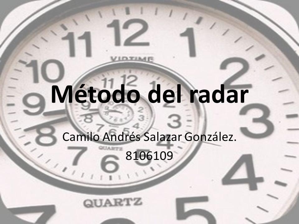 Método del radar Camilo Andrés Salazar González. 8106109