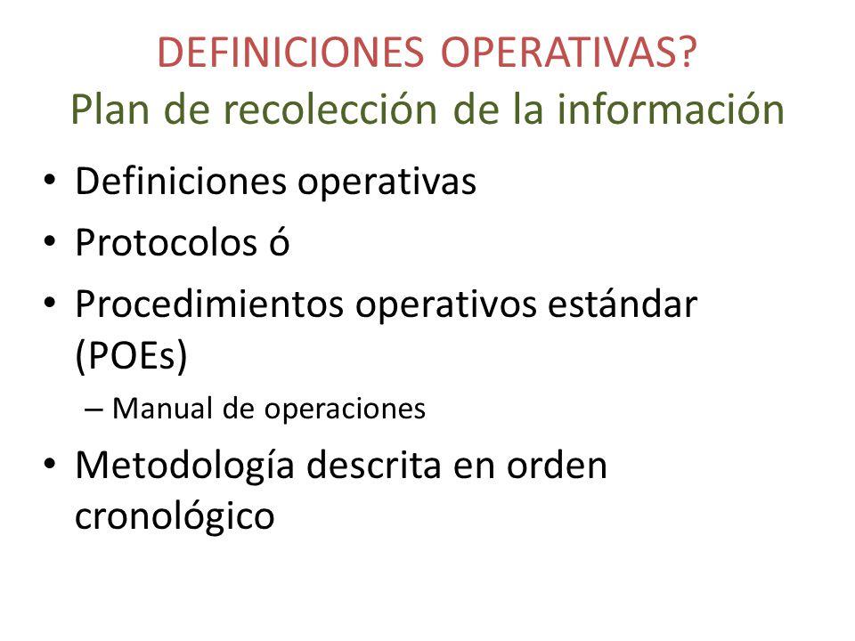 DEFINICIONES OPERATIVAS.