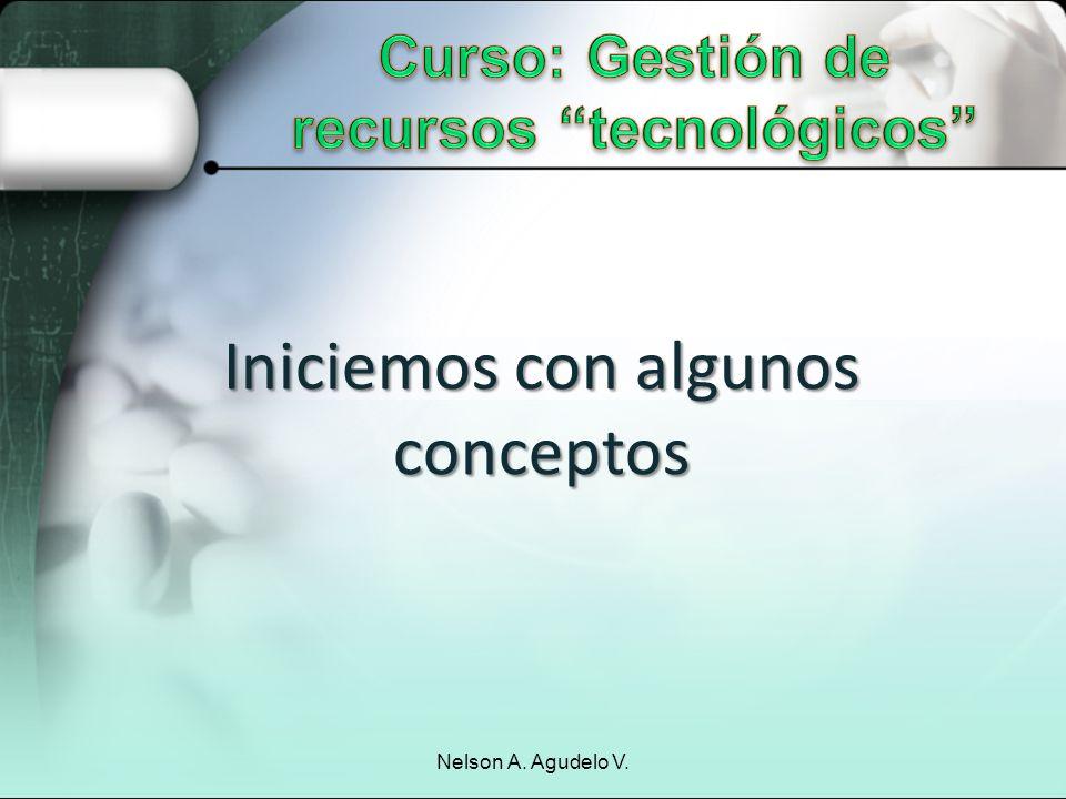 Iniciemos con algunos conceptos Nelson A. Agudelo V.