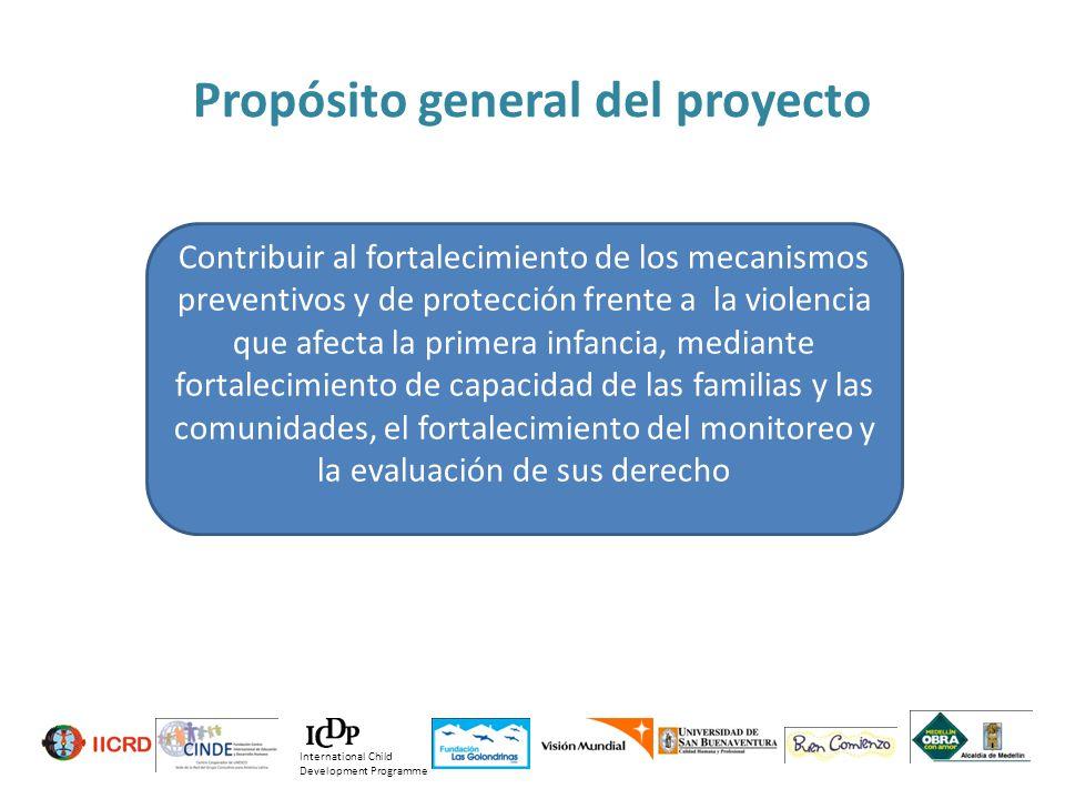 Contribuir al fortalecimiento de los mecanismos preventivos y de protección frente a la violencia que afecta la primera infancia, mediante fortalecimi