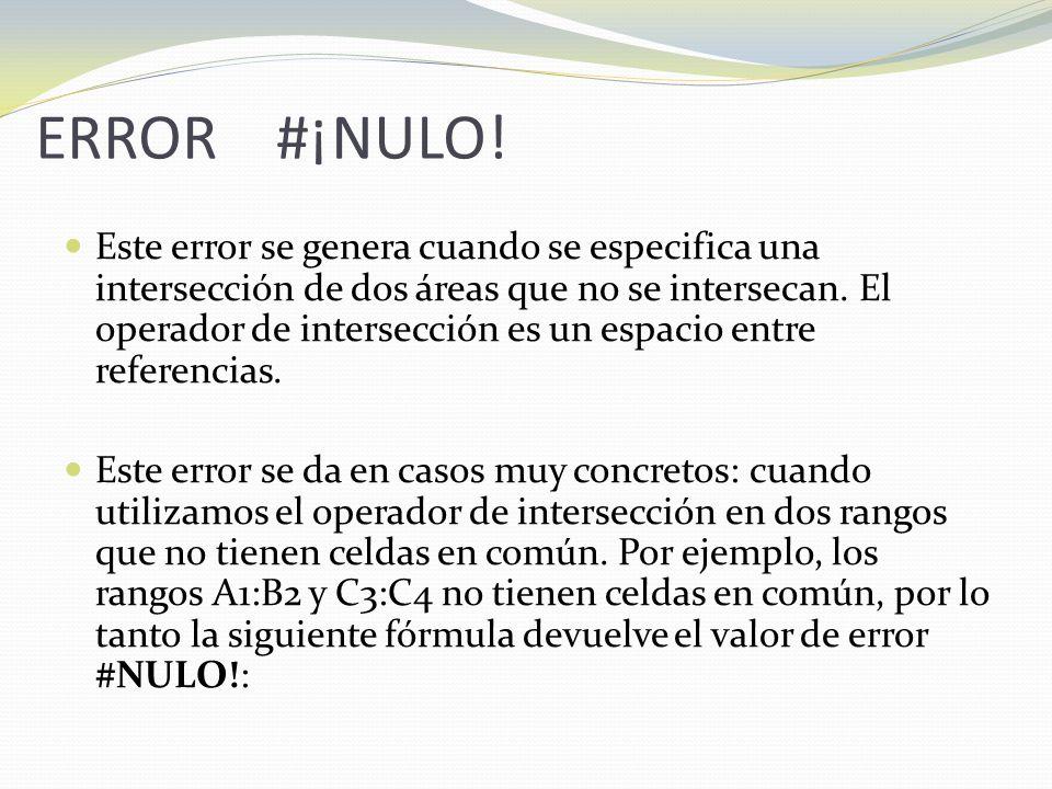 ERROR #¡NULO.