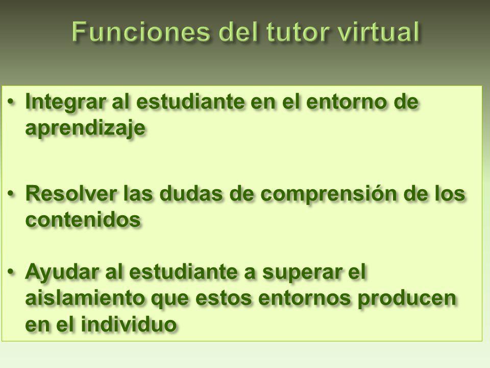 Tomado de Llorente, Ma.Del Carmen (2006). El tutor en E-learning: aspectos a tener en cuenta.