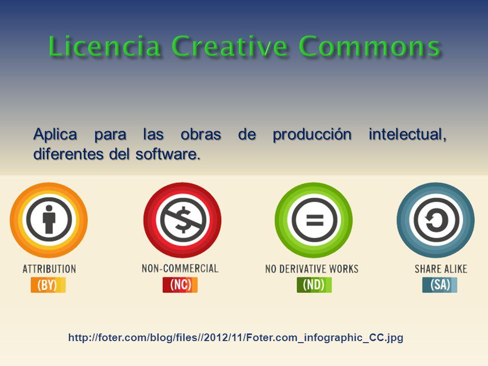Aplica para las obras de producción intelectual, diferentes del software.