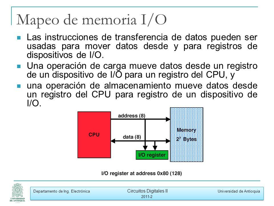 Departamento de Ing. Electrónica Circuitos Digitales II Universidad de Antioquia 2011-2 Departamento de Ing. Electrónica Circuitos Digitales II Univer