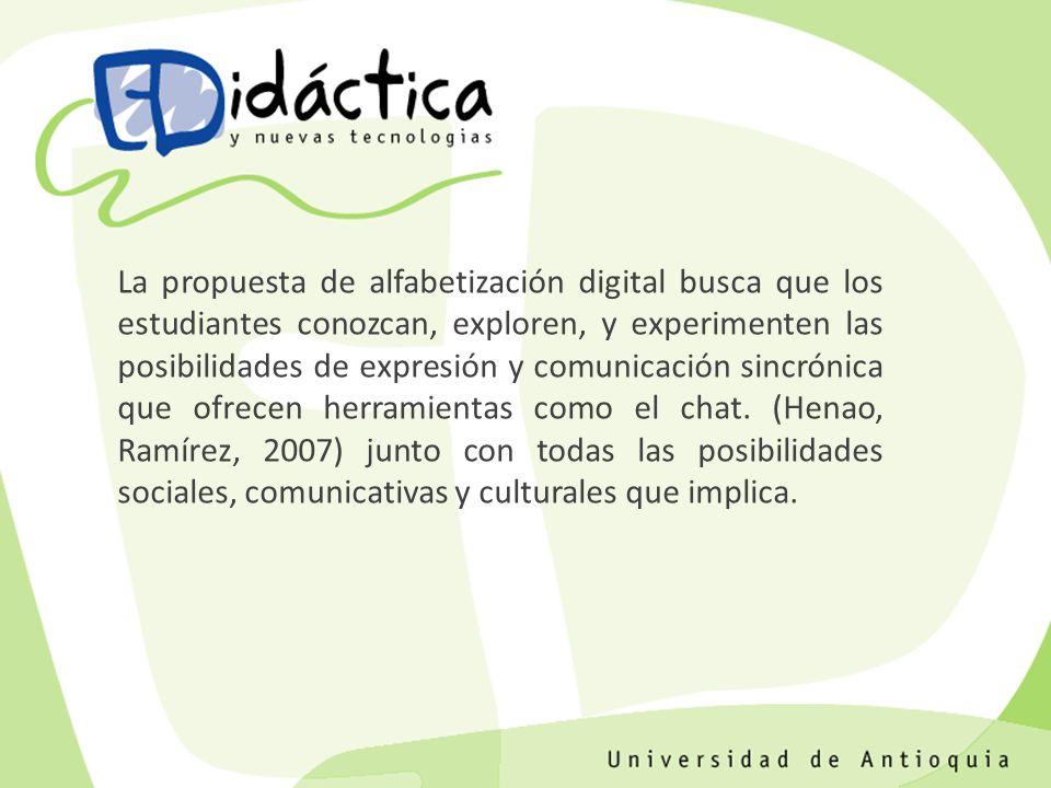 La propuesta de alfabetización digital busca que los estudiantes conozcan, exploren, y experimenten las posibilidades de expresión y comunicación sinc