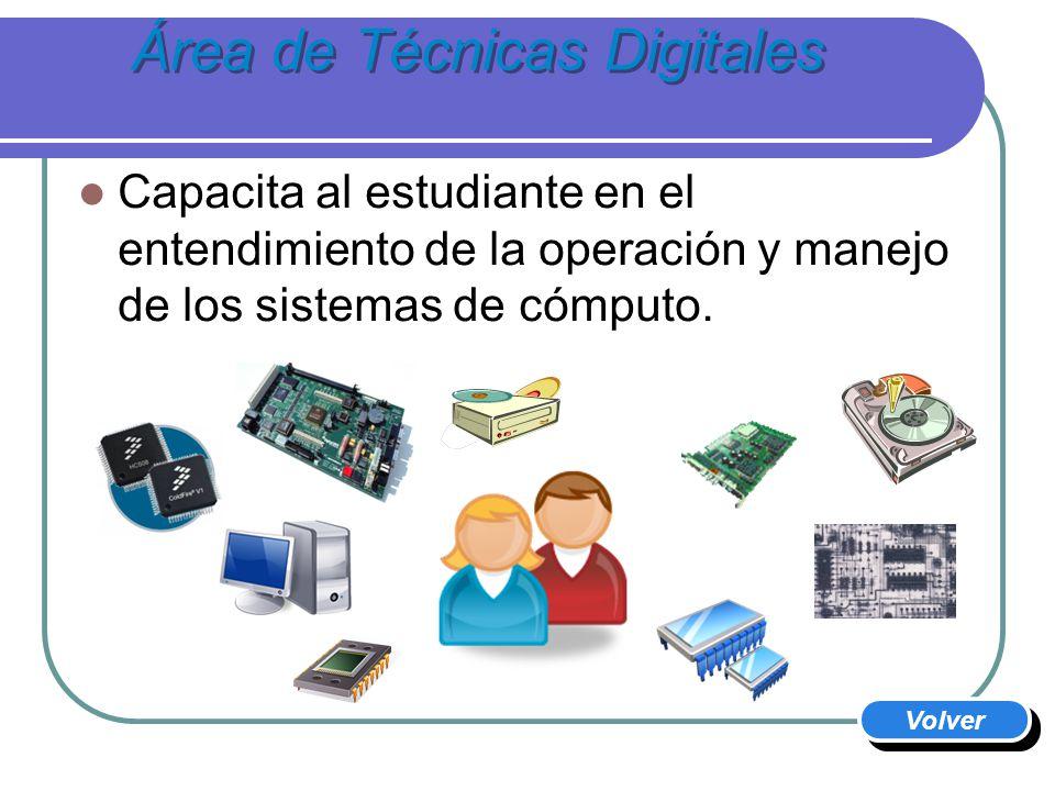 Área de Técnicas Digitales El estudiante adquiere todas las habilidades requeridas para trabajo en la industria usando Sistemas Embebidos.
