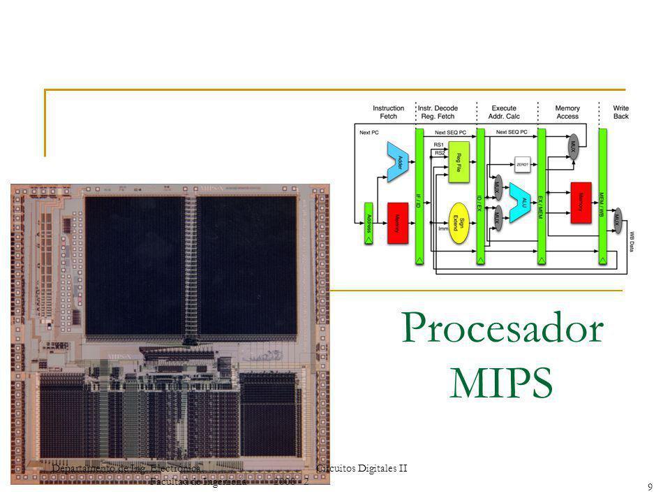 Procesador MIPS 9 Departamento de Ing. Electrónica.