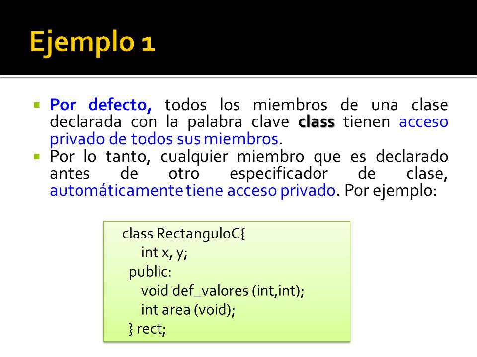Si en la definición de una clase no se declara ningún constructor, el compilador asume que la clase tiene un constructor por defecto sin ningún argumento.