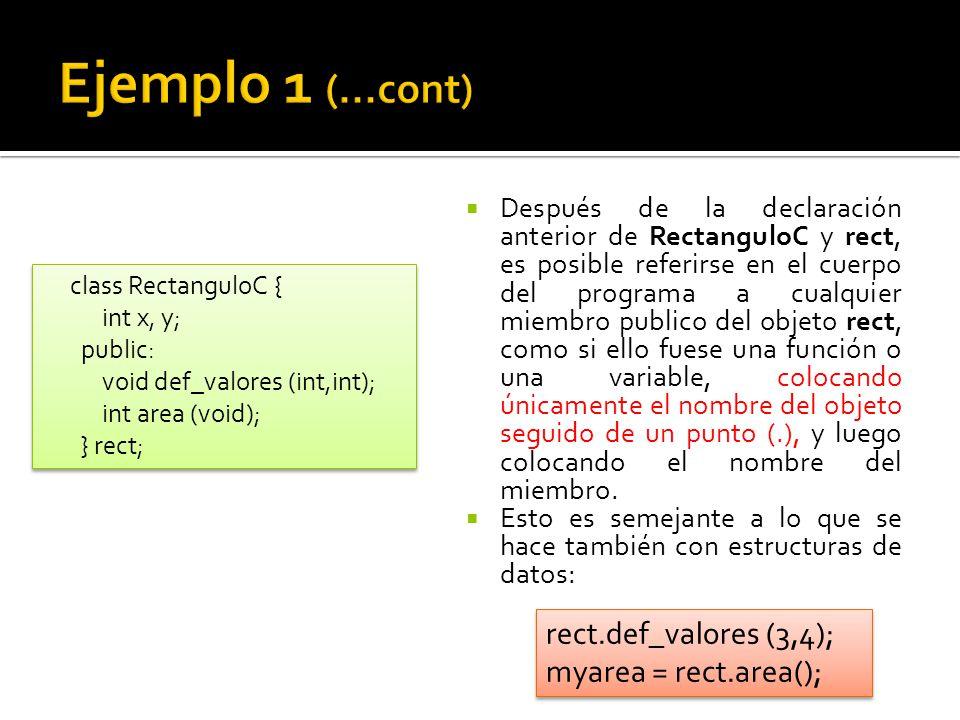 En el ejemplo de RectanguloC qué hubiera sucedido si se hubiese invocado la función area() antes de llamar a la función def_valores()?