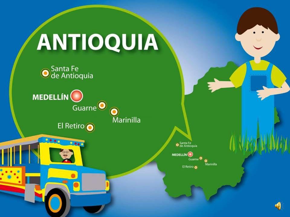 En la chiva conoceremos algunos municipios del departamento de Antioquia: Santa Fé de Antioquia, Guarne, Marinilla, y El Retiro.