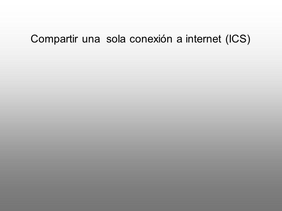 Compartir una sola conexión a internet (ICS)