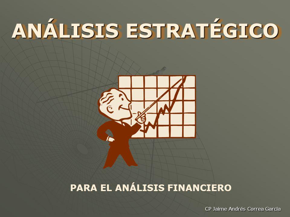 CP Jaime Andrés Correa Garcia ANÁLISIS ESTRATÉGICO PARA EL ANÁLISIS FINANCIERO