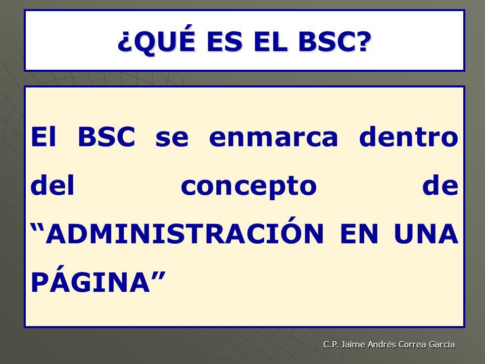 C.P.Jaime Andrés Correa García ¿QUÉ ES EL BSC.