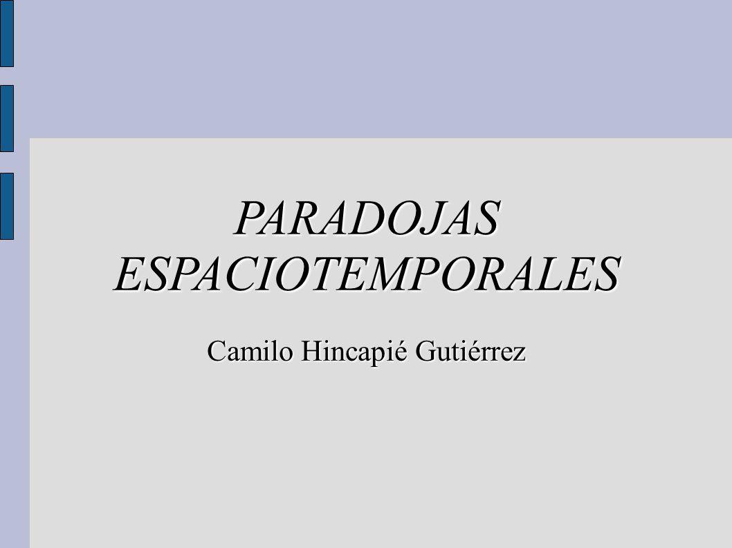 PARADOJAS ESPACIOTEMPORALES Camilo Hincapié Gutiérrez