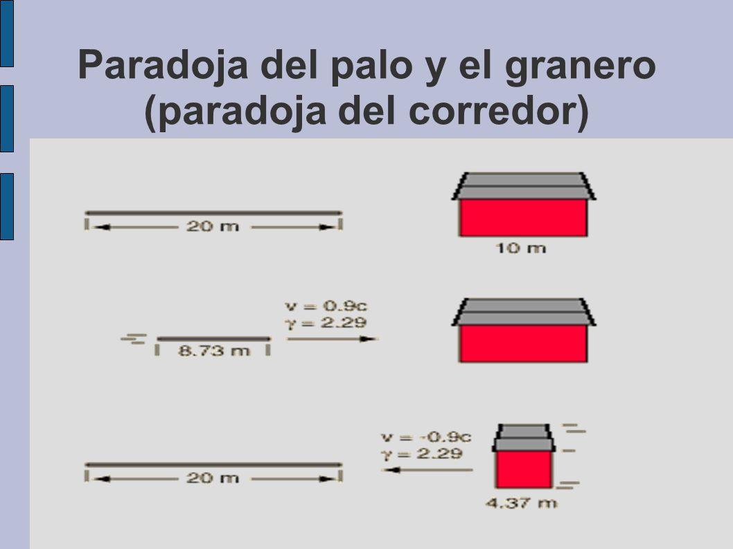 Paradoja del palo y el granero (paradoja del corredor)