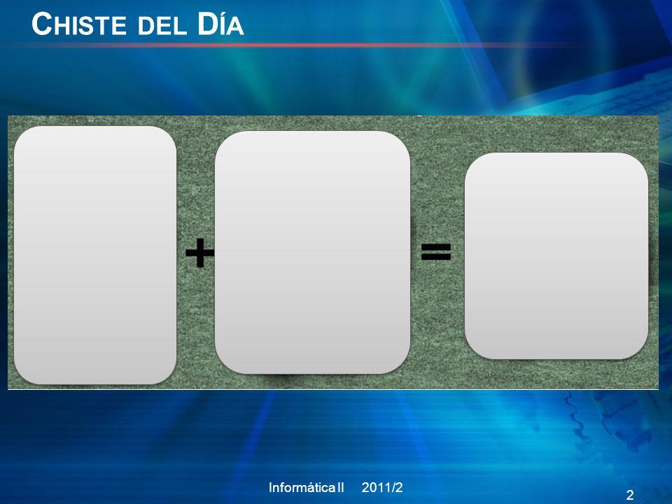 C HISTE DEL D ÍA Informática II 2011/2 2