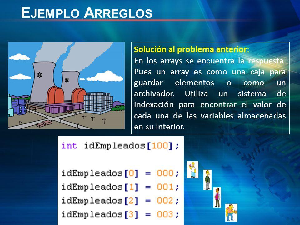 Solución al problema anterior: En los arrays se encuentra la respuesta.